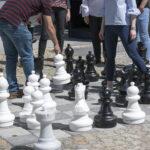 Schachbrett - hinter dem Rathaus